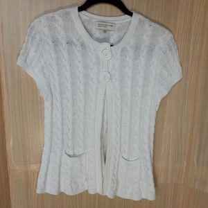 Jones New York petite short sleeve cardigan. Med
